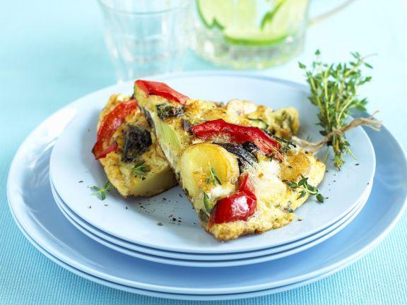 Herzhaftes Omelett nach italienischer Art