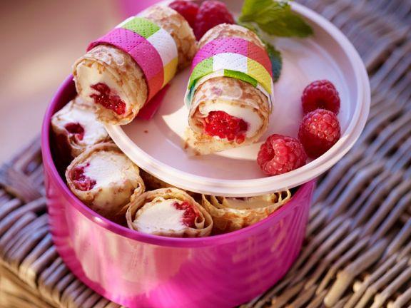 Himbeer-Pfannkuchen