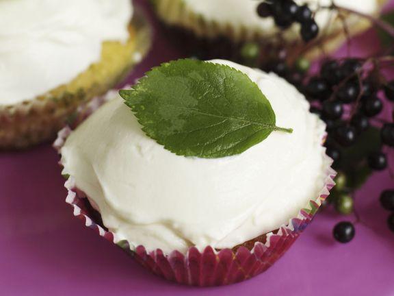 Holunderbeeren-Cupcakes