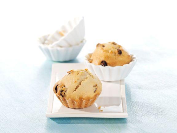 Honig-Rosinen-Muffins