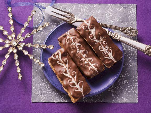Honigkuchen mit Schokoladenglasur