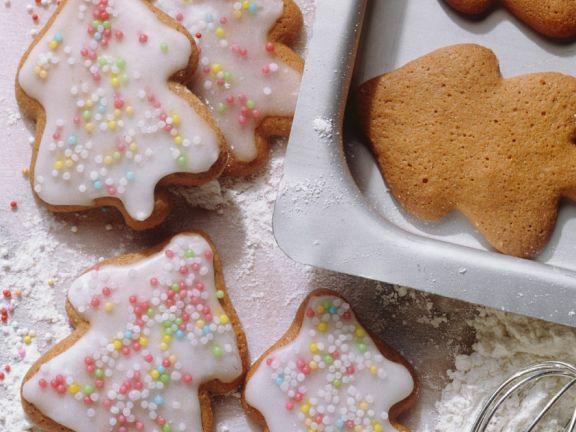 Honigkuchen mit Zuckerguss