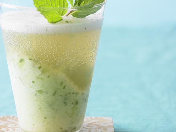 Honigmelonen-Minz-Drink
