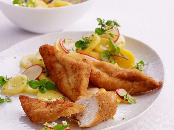Hühnchen mit Kartoffelsalat
