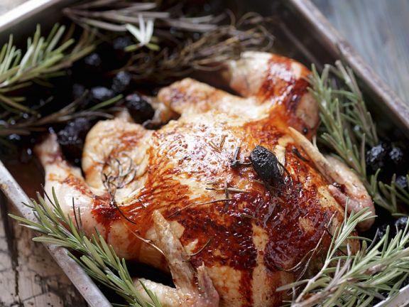 Hühnchen mit Rosmarin und Oliven