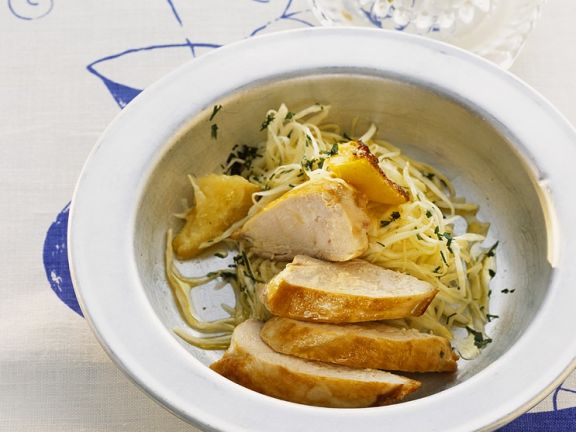 Hühnerbrust mit Fenchelsalat