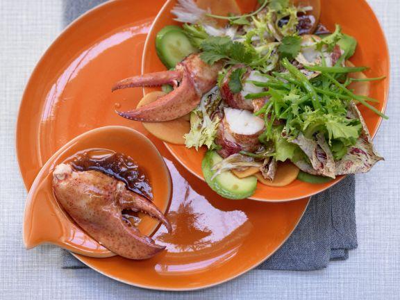 Hummer-Papaya-Salat