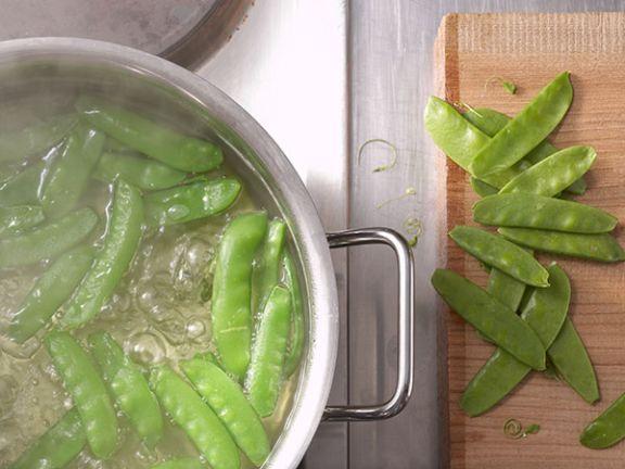 Beim Blanchieren bleibt das Gemüse knackig und frisch.