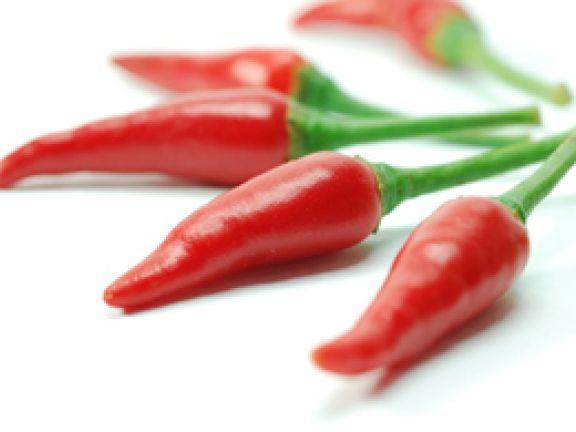Chilischote - liefert viel des Scharfstoffes Capsaicin