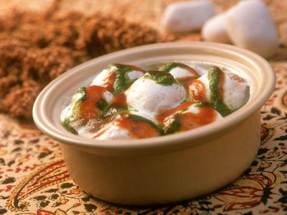 Indische Kartoffeln mit Joghurtsauce