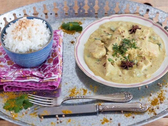 Indisches Curry mit Fisch