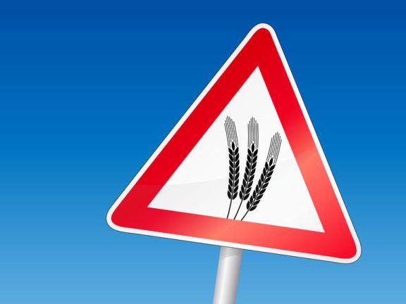 Achtung-Schild mit Weizenähre