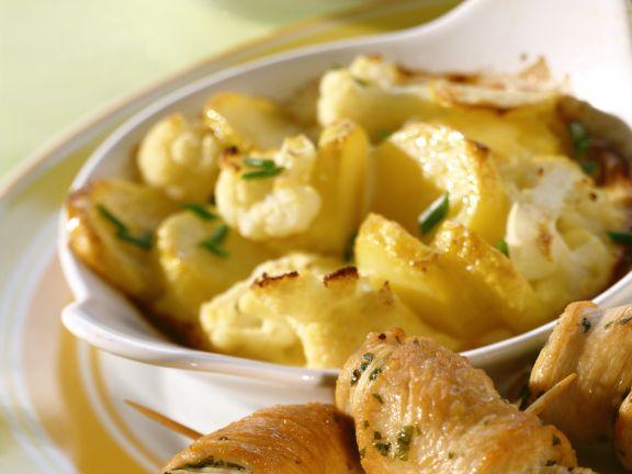 Involtini mit Kartoffel-Blumenkohl-Gratin