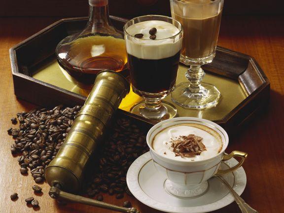 Irish Coffee und Cappuccino