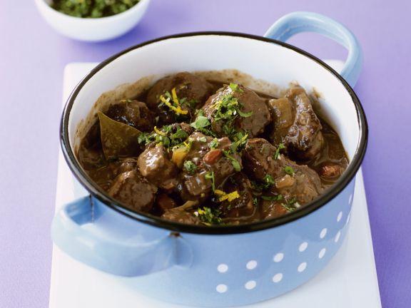 Irish Stew mit würziger Kräutermischung (Gremolata)