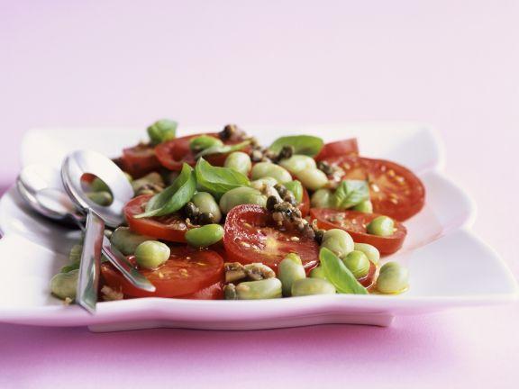 Italienischer Bohnensalat mit Tomaten