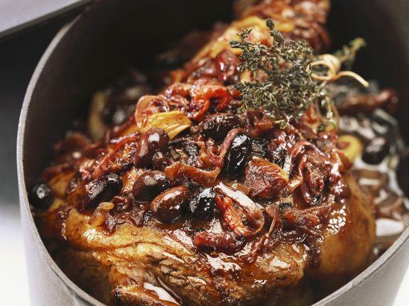 Italienischer Lammbraten mit Oliven