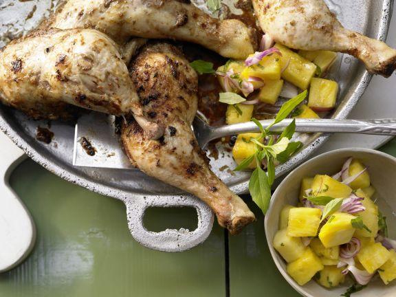 Jamaikanische Hähnchenkeulen