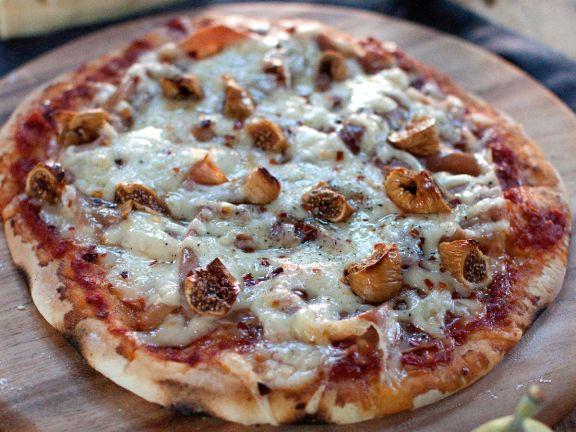 Jarlsberg Pizza mit Feigen