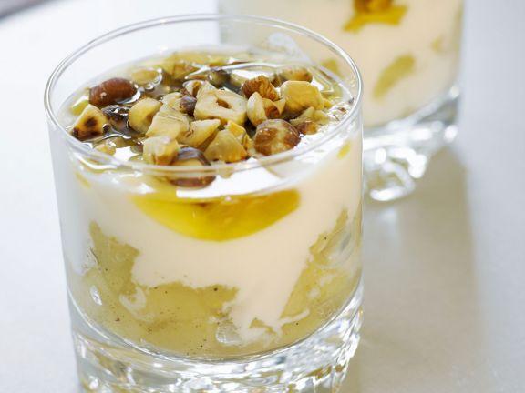 Joghurt mit Apfelkompott