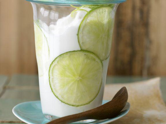 Joghurt mit Limette