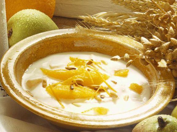 Joghurt mit Orangen