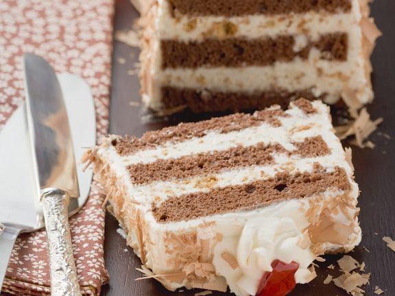Joghurt-Schokoladenkuchen mit Keksen