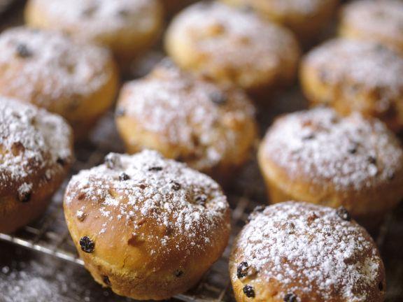 Joghurt-Vanille-Muffins mit Rosinen