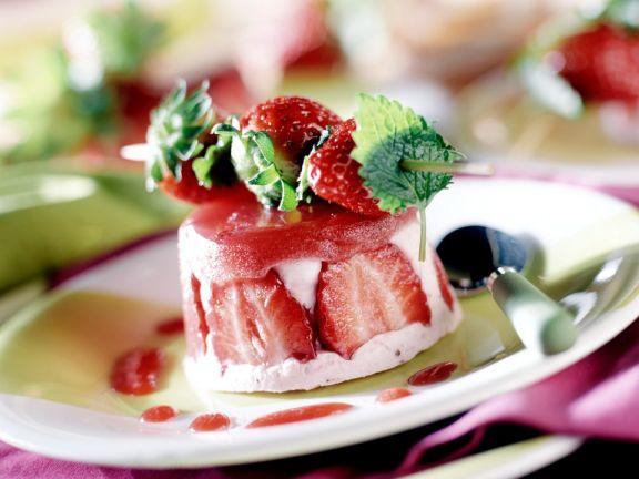 Joghurtcreme mit Erdbeeren
