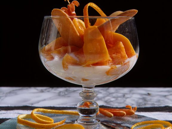 Joghurtcreme mit Papaya
