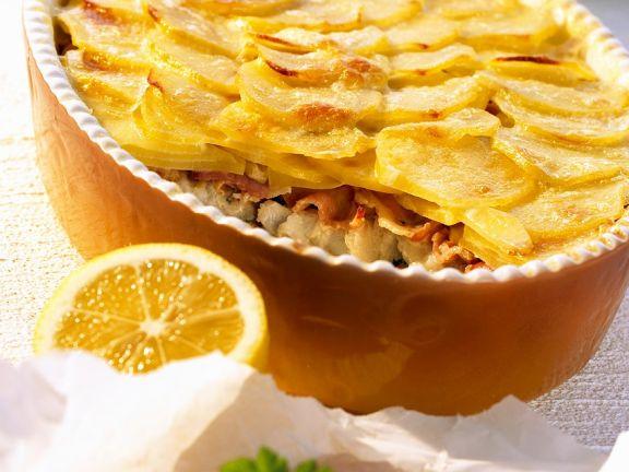 Kabeljau-Kartoffelauflauf