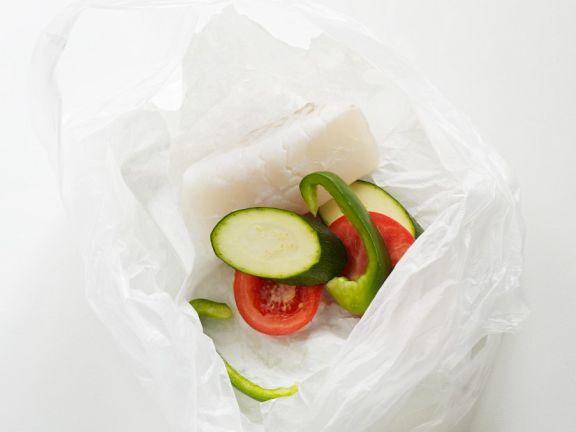 Kabeljau mit Gemüse