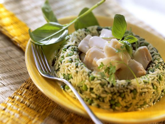 Kabeljauragout mit Reis