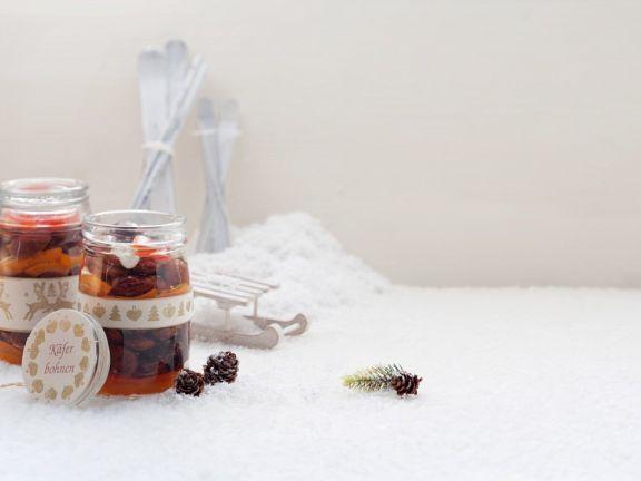 Käferbohnen mit Paprika eingelegt