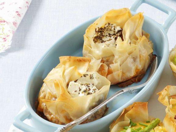 Käse-Auberginentörtchen