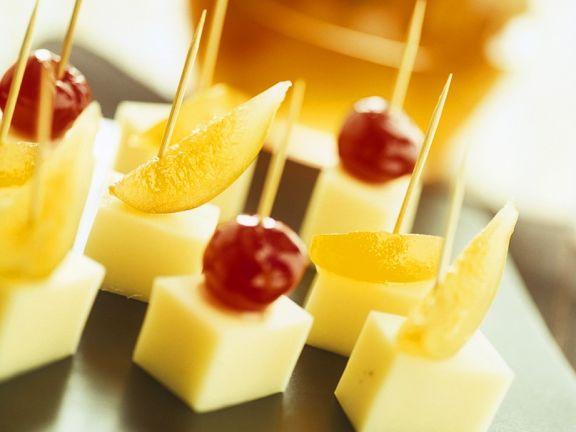 Käse-Frucht-Häppchen