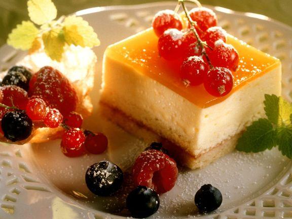 Käse-Fruchtschnitte