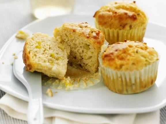 Käse-Muffins mit Lauch