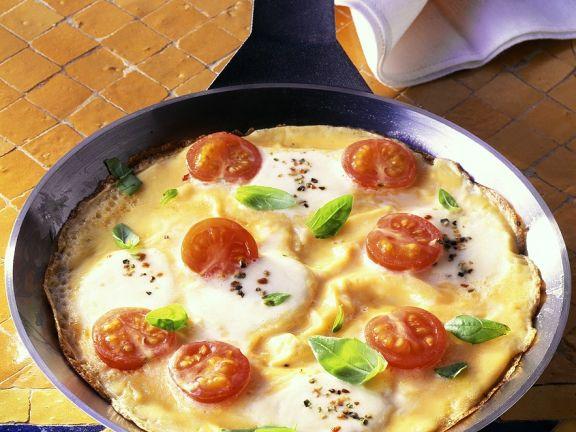 Käse-Tomaten-Omelett