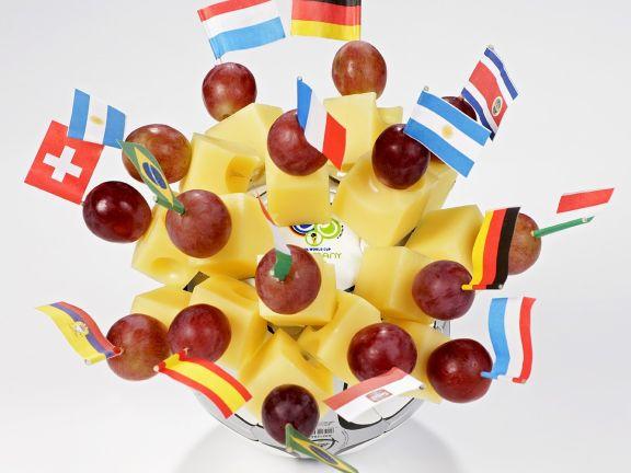 Käse-Trauben-Spießchen