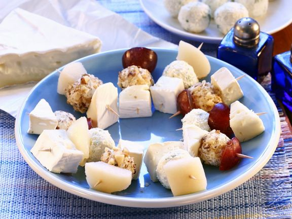 Käse-Weintrauben-Häppchen
