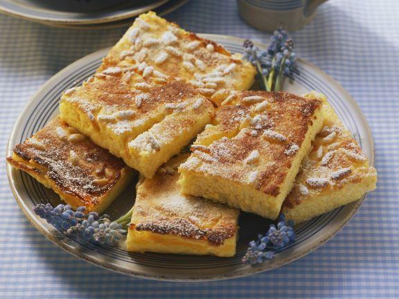 Käsekuchen mit Maisgrieß und Orangenaroma