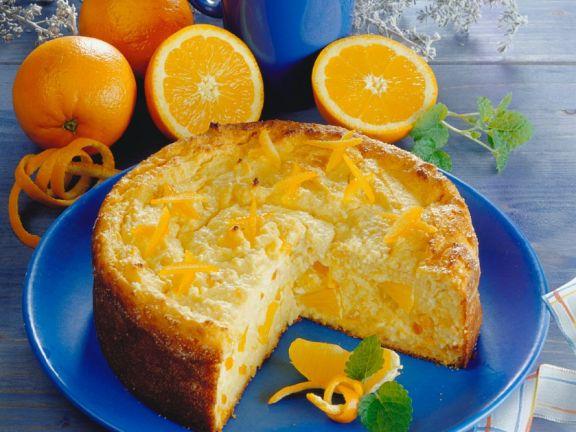 Käsekuchen mit Orangen