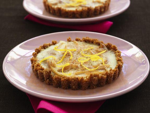 Käsekuchen-Tartelett mit Pastinake