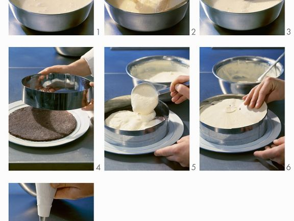 Käsesahnetorte zubereiten