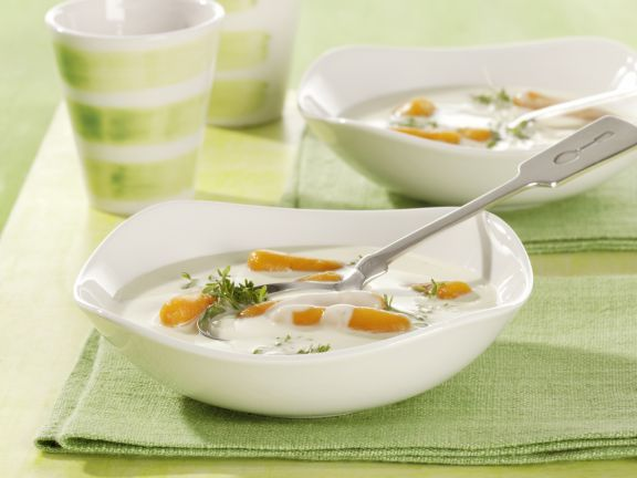 Käsesuppe mit Karotten