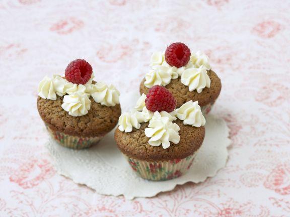 Kaffee-Cupcake mit Vanillecreme