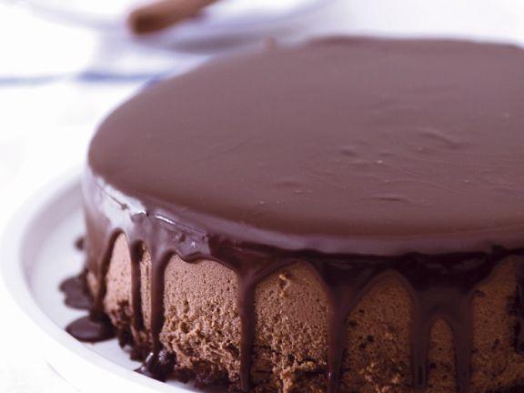 Kaffee-Käsekuchen mit Schokolade