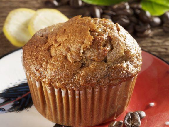 Kaffee-Muffin mit Banane