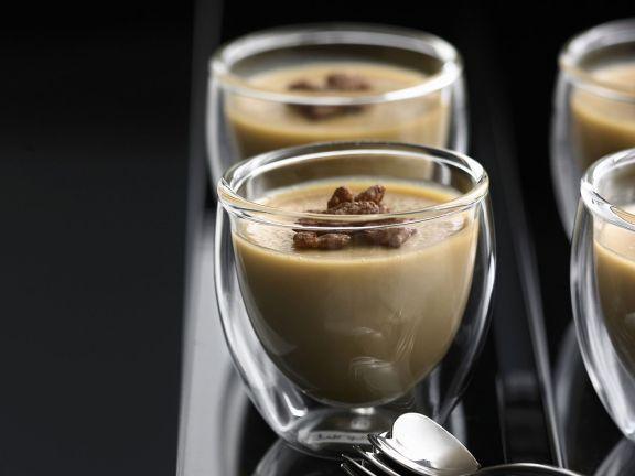 Kaffeepudding (Kaffee-Panna-cotta)